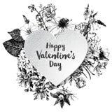 Cuore dei biglietti di S. Valentino del Libro Bianco Immagine Stock