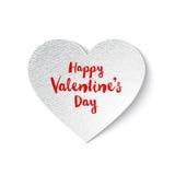 Cuore dei biglietti di S. Valentino del Libro Bianco Fotografia Stock