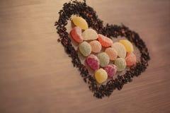 Cuore dei biglietti di S. Valentino per amore Fotografia Stock Libera da Diritti