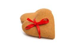 Cuore dei biscotti di Natale Immagine Stock Libera da Diritti