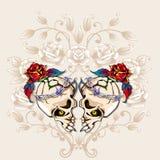 Cuore dei crani illustrazione di stock