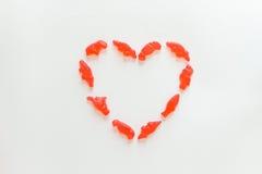 Cuore dei dolci della marmellata d'arance Immagini Stock Libere da Diritti