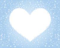 Cuore dei fiocchi di neve Fotografie Stock