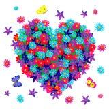 cuore dei fiori Fotografie Stock