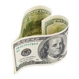 Cuore dei soldi Immagini Stock Libere da Diritti