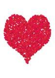 Cuore del biglietto di S. Valentino Fotografia Stock