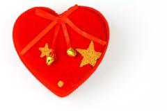 Cuore del biglietto di S. Valentino Fotografia Stock Libera da Diritti