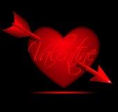 Cuore del biglietto di S. Valentino illustrazione di stock