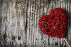 Cuore del biglietto di S. Valentino immagini stock