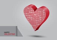 Cuore del biglietto di S. Valentino Immagine Stock