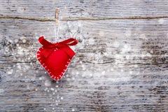 Cuore del biglietto di S. Valentino Immagini Stock Libere da Diritti