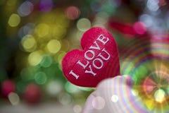 Cuore del biglietto di S. Valentino della raccolta della foto Immagini Stock Libere da Diritti