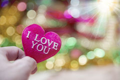 Cuore del biglietto di S. Valentino della raccolta della foto Fotografia Stock