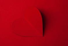 Cuore del biglietto di S. Valentino di carta Fotografia Stock Libera da Diritti