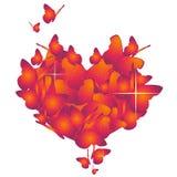 Cuore del biglietto di S. Valentino di vettore Illustrazione Vettoriale