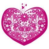 Cuore del biglietto di S. Valentino di vettore Illustrazione di Stock