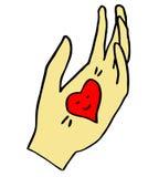 Cuore del biglietto di S. Valentino disponibile Fotografia Stock