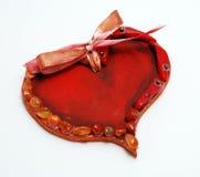 Cuore del biglietto di S. Valentino fatto con la gemma Immagine Stock Libera da Diritti