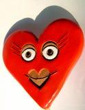 Cuore del biglietto di S. Valentino, sorriso fotografia stock libera da diritti