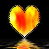 Cuore del biglietto di S. Valentino sul nero illustrazione di stock