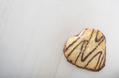Cuore del biscotto fotografia stock