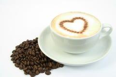 Cuore del caffè Immagini Stock Libere da Diritti