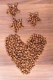 Cuore del caffè Fotografie Stock