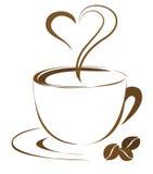 Cuore del caffè royalty illustrazione gratis