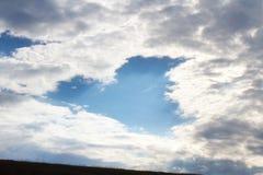 Cuore del cielo Fotografie Stock