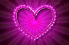 Cuore del cinema della pagina Valentino con fondo commovente Fotografia Stock