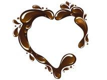 Cuore del cioccolato Fotografie Stock