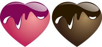 Cuore del cioccolato e della caramella illustrazione vettoriale