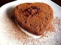 Cuore del cioccolato zuccherato. Fotografie Stock Libere da Diritti