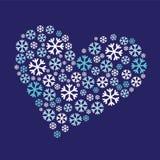 Cuore del fiocco di neve Immagini Stock Libere da Diritti