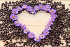 Cuore del fiore Immagini Stock