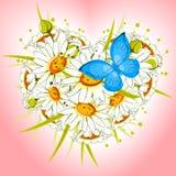 Cuore del fiore delle margherite illustrazione di stock