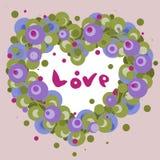 Cuore del fiore di aria per il giorno di biglietti di S. Valentino illustrazione di stock