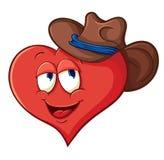 Cuore del fumetto del ute del ¡ di Ð in un cappello da cowboy Immagine Stock
