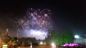 Cuore del fuoco d'artificio Fotografia Stock