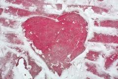 Cuore del ghiaccio fotografie stock libere da diritti