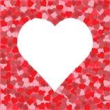 Cuore del giorno del biglietto di S. Valentino Royalty Illustrazione gratis