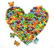 Cuore del Jellybean Immagini Stock Libere da Diritti