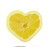Cuore del limone Fotografia Stock
