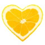 Cuore del limone Fotografia Stock Libera da Diritti
