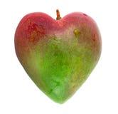 Cuore del mango Immagini Stock