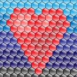 Cuore del mosaico Fotografia Stock