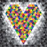 Cuore del mosaico di colore Fotografia Stock Libera da Diritti