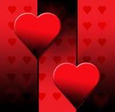 Cuore del nero di giorno dei biglietti di S. Valentino Immagini Stock