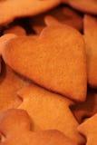 Cuore del pan di zenzero Immagini Stock