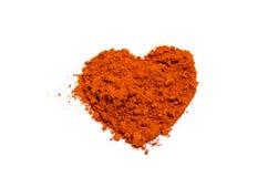 Cuore del peperoncino rosso Fotografie Stock Libere da Diritti